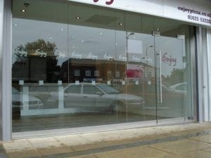 Toughend Glass Shopfront