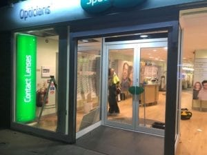 Specsavers Doors Side